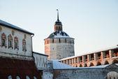 Northern Russian monastery in winter. — Stock Photo