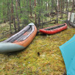 Постер, плакат: Boats for rafting
