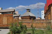 The old wooden town, Yakutsk. — Stock Photo