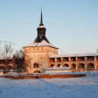 Stock Photo: Northern Russimonastery in winter.