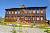 A wooden building, Yakutsk. — Stockfoto