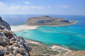 Sea summer landscape coast of the Greek island. — Stock Photo