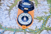 Maps and compass.  — Stock Photo