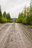 "Federal highway ""Kolyma"", Yakutsk - Magadan, Yakutia. — Stock Photo"