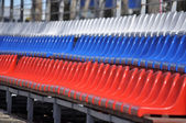 Plastic seats in the stadium. — Foto Stock