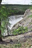 Canyon of the mountain river in Yakutia. — Stock Photo
