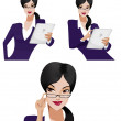 Businesswoman with tablet — Stock Photo