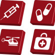 Emergency Sign - Medical Icons - Stock Vector