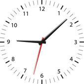 Zeit vergeht - keer wordt uitgevoerd — Stockvector