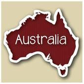 Abstact mapa austrálie — Stock vektor