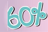 Sixty percent icon — Stock Vector