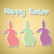 Vintage Happy Easter card - Stock Vector