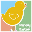 Abstract background with Easter Chick — Stock Vector