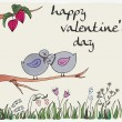Royalty-Free Stock Vector Image: Valentine\'s day background with birds in love