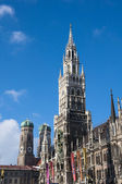 Munich Marienplatz and city hall, Germany — Stock Photo