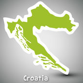 Croatia map sticker — Stock Vector