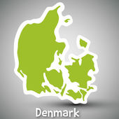 Denmark map sticker — Stock Vector