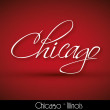 Stock Vector: Chicago - handwritten background