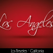 Los Angeles - handwritten background — Imagen vectorial