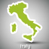 Italy map sticker — Stock Vector