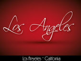 Los Angeles - handwritten background — Stock Vector
