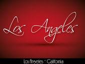 Los Angeles - handwritten background — Stock Vector