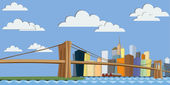 New York skyline — Stockvector