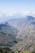 Horská krajina ostrova gran canaria, španělsko — Stock fotografie