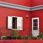 Mediterranean house exterior, traditional architecture — Stock Photo #23281668