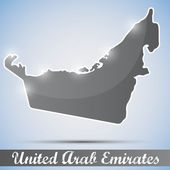 Shiny icon in form of United Arab Emirates — Stock Vector