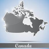 Icono de brillante en forma de canadá — Vector de stock
