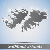 Shiny icon in form of Falkland Islands — Stock Vector