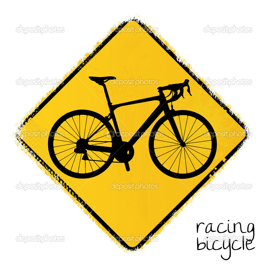 Racing Road Signs Warning Road Sign With a