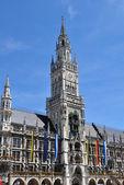 Nova prefeitura em munique, alemanha — Fotografia Stock