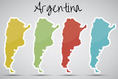 Stickers in form of Argentina — Stock Vector
