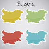 Stickers in form of Bulgaria — Stock Vector