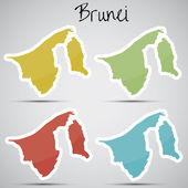 Stickers in form of Brunei — Stock Vector