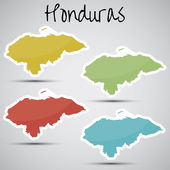 Stickers in form of Honduras — Stock Vector