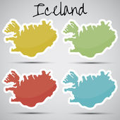 Stickers in form of Iceland — Vetor de Stock