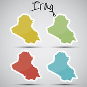 Stickers in form of Iraq — Stock Vector