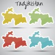 Stickers in form of Tajikistan — Stock Vector #28002679
