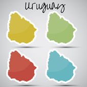 Stickers in form of Uruguay — Stock Vector