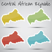 Stickers in form of Central African Republic — Stock Vector