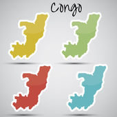 Stickers in form of Congo — Stock Vector