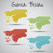Stickers in form of Guinea-Bissau — Stock Vector