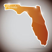 Vintage sticker in form of Florida state, USA — Stock Vector