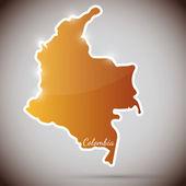 在窗体的哥伦比亚复古贴纸 — 图库矢量图片