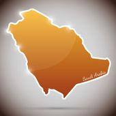Vignetta vintage nella forma dell'arabia saudita — Vettoriale Stock