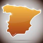 Ročník nálepky v podobě španělska — Stock vektor