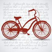 Sfondo vintage bicicletta retrò — Vettoriale Stock